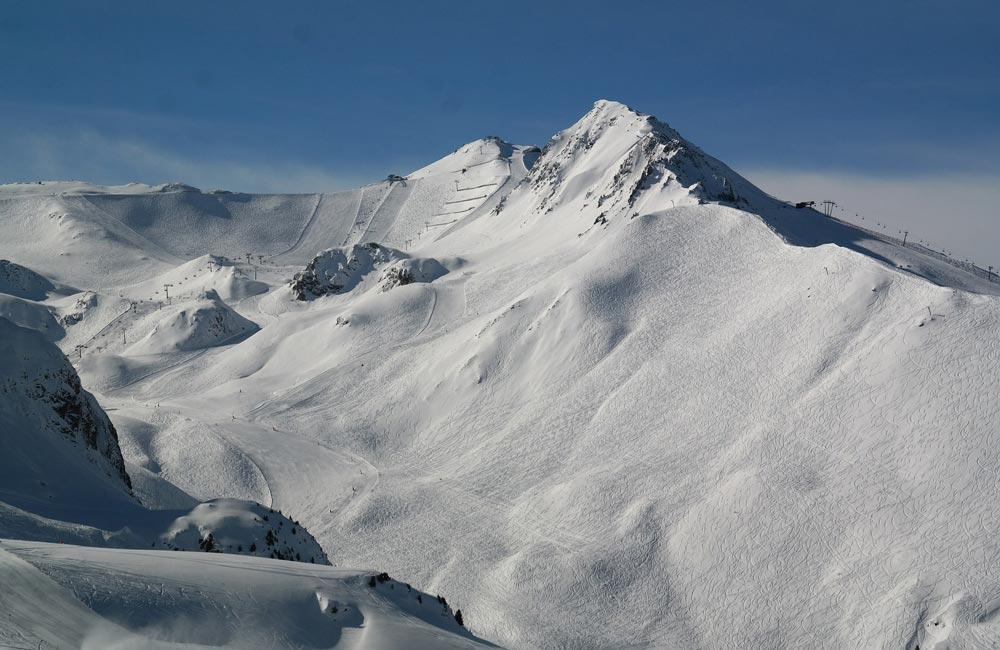 Ischgl Skigebiet und Sonne